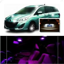 For Mazda 5 2006-2010 Pink LED Interior Kit + Xenon White License Light LED
