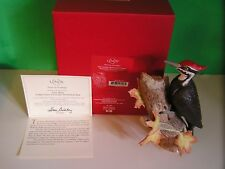 LENOX PILEATED WOODPECKER sculpture 2014 Annual Christmas Bird NEW in BOX w COA