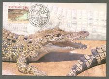 Saltwater Crocodile postcard- Australia issue with stamp used