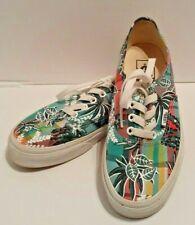 Vans Canvas Sneaker Shoes Floral Tropical Print  Men's Size 4.5 Women's Size 6