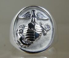 US Marine Corps USMC official license USA made ring .925 sterling size 10 new