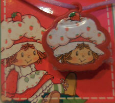 Vtg Strawberry Shortcake Lipgloss Locket Pendant on Pink Cord Sealed