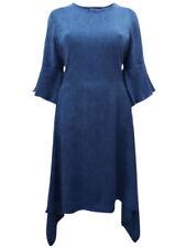 Viscose 3/4 Sleeve Asymmetric Dresses for Women