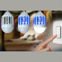 LED Bulb E27 9W Anti-Mosquito Insect Zapper Fly Bug Moth Killer Night Light lamp
