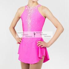 Pink Ice Figure Skating Dresses Custom Girl Competition Skating Dress Girls