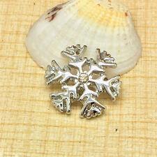 NEW Snow White Rhinestone Charm Chunk Snap Button fit for Noosa Bracelet EFG96