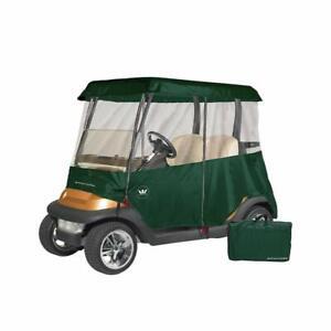 Greenline 2 Passenger Drivable Universal Heavy Duty Golf Cart Enclosure - Green