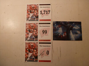 1999 Wisconsin Badgers Ron Dayne Count Down Post Cards & 1983 Scrimmage by Wolk
