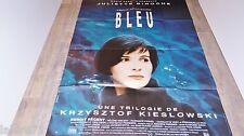 trois couleurs BLEU ! j binoche  affiche cinema K Kieslowski
