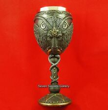 Baphomet Goblet Goat of Mendes Satanic Demon Occult Statue Pagan Ornament NEW IN