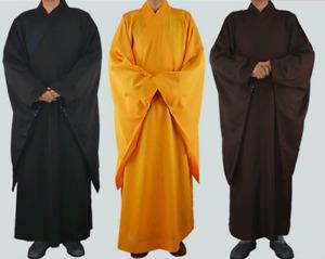 Summer linen Shaolin monk clothing meditation sea blue robe kung fu clothing