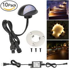 10pcs 50mm Waterproof LED Deck Yard Light Stair Step Patio Garden Path Spot Lamp