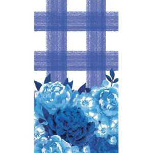 Pioneer Woman Blue Floral Plaid Paper Napkins 24 Count 2 Ply New In Package A17