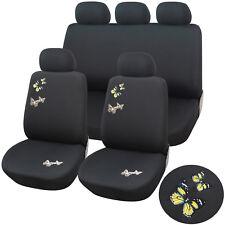 Autositzbezug Damen Sitzbezüge Schonbezüge Schonbezug Universal Schwarz AS7308