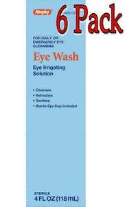 Eye Wash Solution, 99.05%, 4oz., 6 Pack 305361224974C291