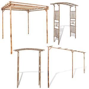 Pergola Bambus Rosenbogen Garten Pavillon Spalier Rankhilfe Terrasse Bambus DE