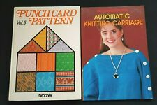 BROTHER KNITTING MACHINE BOOKS AUTOMATIC G CARRIAGE PUNCH CARD PATTERNS VOL 5