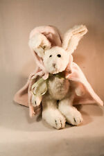 Boyds Bears: Red Riding Bunny - White Rabbit Plush 8 inches - Pink Cape