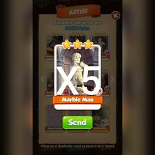 Coin Master Marble Man X5 *Fast Delivery*