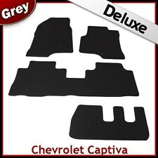 CHEVROLET CAPTIVA 7-Seater 2006 onwards Tailored LUXURY 1300g Carpet Mats GREY