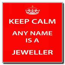 Jeweller Personalised Keep Calm Coaster