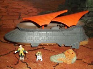 STAR WARS ACTION FLEET JABBA'S SAIL BARGE DESERT VEHICLE W R2-D2 YAK-FACE JABBA