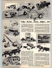 1972 PAPER AD Tonka Nylint Structo Ertl Toy Truck John Deere Combine Buddy L
