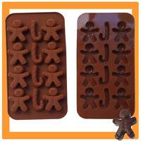 Schokoladenform Pralinenform Weihnachten Lebkuchen Silikonform Männchen Backform
