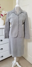 Ultrasuede Brand Fabric 2 Pc Skirt & Jacket Suit Outfit Gray Super Soft Sz.10