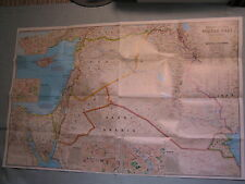 MIDDLE EAST MAP IRAQ SYRIA JORDAN ISRAEL National Geographic October 2002