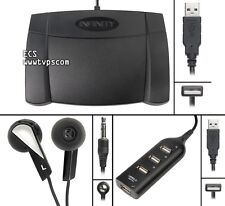 Infinity IN-USB-2 INUSB2 PC Computer Transcription Foot Pedal with Headset & Hub