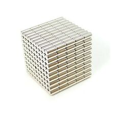 "500pcs 5/32"" x 5/16"" Cylinder 4x8mm Neodymium Magnets Fridge Craft Permanent N35"