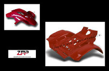 NEW HONDA TRX250R PLASTIC RED RACE FRONT AND REAR FENDER SET TRX 250R