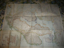"""Vintage 1954 National Geographic Map Northern Europe 35.5"""" X 29"""""""