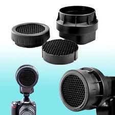 3-in-1 Stacking Honeycomb Grid Light Modifier Cap fits Canon Speedlite 580EX II