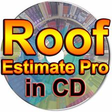 Roof Estimate Pro Software Roofing Contractor Invoice Proposal Program Suite CD