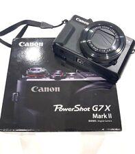 Canon PowerShot G7 X Mark II 20.1 MP Digital Camera - Black (1066C001)