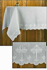 Altar Frontal Cloth Scallop Edged LINEN 52 x 96 inches NEW SKU PS272