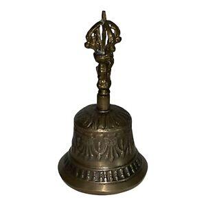 Antique Vintage Buddhist Tibetan Ritual Temple Brass Bronze Bell
