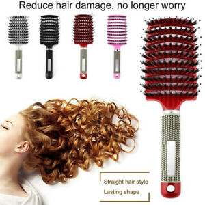 Anti-static Massage Scalp Large Paddle Hairbrush Comb Brush Tangle Free Cushion