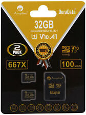2 Pack 32GB Micro SD SDHC Memory Card Plus Adapter (Class 10 U1 UHS-I V10 A1 2X