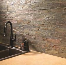 Peel and Stick Backsplash Stone Flexible Aspect 6 x 24-inch Weathered Quartz New