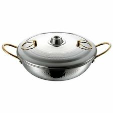 Stainless Steel Shabu Shabu Nabe Hot Pot 26cm Made in JAPAN DR-4222 Japan new.