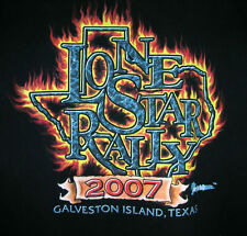 Large Black 2007 Lone Star Texas Motorcycle Rally T shirt Galveston