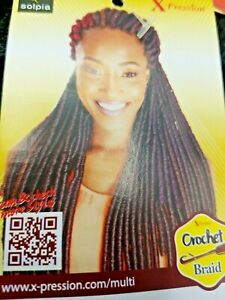 """Faux Lock  Crochet Braid  55"""" Synthetic Hair Extensions X-PRESSION 85g  #1"""