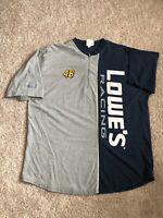 VINTAGE Jimmie Johnson 48 Lowe's Racing Mens Half Zip Chase Shirt 2XL NASCAR