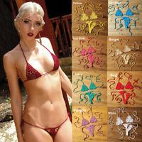 Crochet Monokini Microkini Sexy G thong Brazilian String Bikini Trikini Swimwear