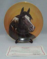A Heritage Of Horses Black Magic Derk Hansen Danbury Mint #e1770