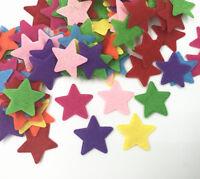100pcs Mixed Colors star shape Felt Appliques Crafts Card Making decoration 25mm