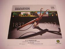 2012 Official John Deere Calendar Innovation 1837-2012 175 Years Never Hung VSL
